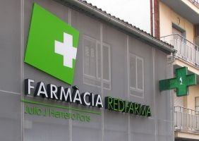Rótulo luminoso farmacia